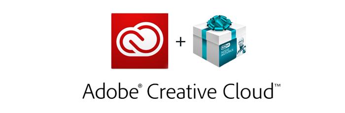 Акция! При покупке подписки Adobe Creative Cloud – антивирус ESET NOD32 в подарок!